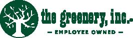 greenery logo in dark green